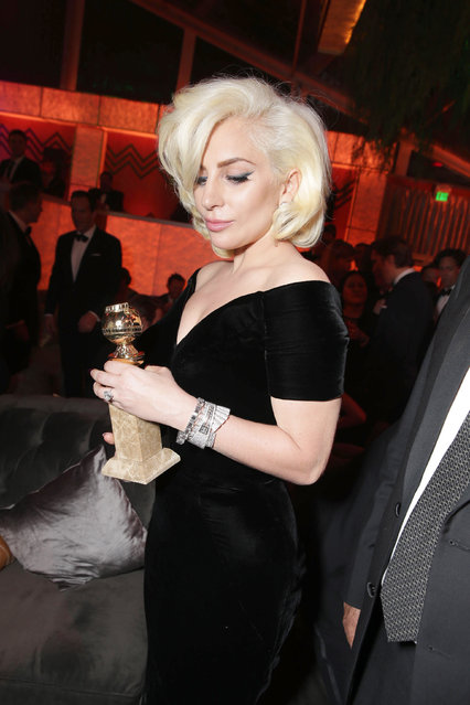 Lady Gaga seen at Twentieth Century Fox Golden Globes Party on Sunday, January 10, 2015, in Beverly Hills, CA. (Photo by Eric Charbonneau/Invision for Twentieth Century Fox/AP Images)