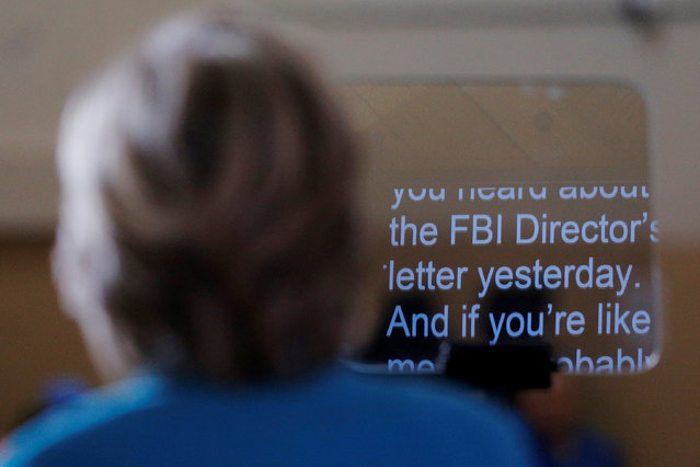 Hillary Clinton speaks about the FBI inquiry into her emails during a campaign rally in Daytona Beach, Florida, October 29, 2016. (Photo by Brian Snyder/Reuters)