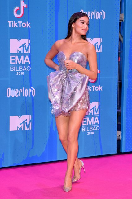 Host Hailee Steinfeld attends the MTV EMAs 2018 on November 4, 2018 in Bilbao, Spain. (Photo by Daniele Venturelli/Daniele Venturelli/WireImage)