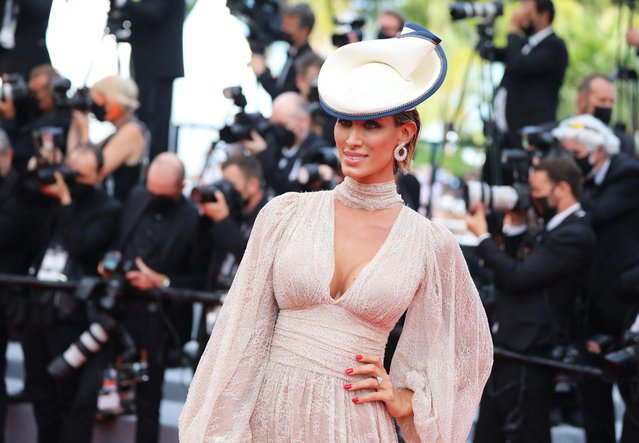 """Influencer Stella Manente arrives for the screening of the film """"France"""" at the 74th edition of the Cannes Film Festival in Cannes, southern France, on July 15, 2021. (Photo by Reinhard Krause/Reuters)"""