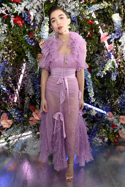 Rowan Blanchard attends JNSQ Rose Cru debuts alongside Rodarte FW/19 Runway Show at Huntington Library on February 5, 2019 in Pasadena, California.  (Photo by Michael Kovac/Getty Images for JNSQ Wines)