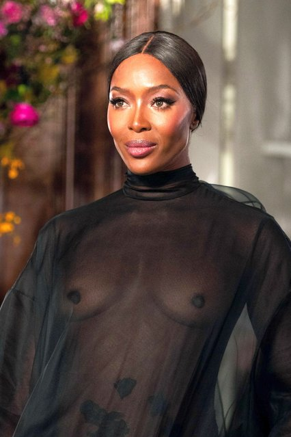 Naomi Campbell walks the runway during the Valentino Haute Couture Spring Summer 2019 show as part of Paris Fashion Week on January 23, 2019 in Paris, France. (Photo by Splash News and Pictures)