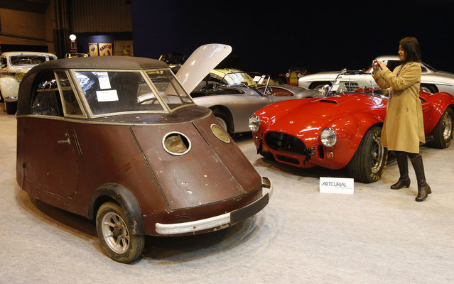 A Pierre Faure Type PFA biplace electric car (1941) is displayed ahead of Artcurial's sale of vintage and classic cars during Retromobile vintage car show in Paris February 5, 2014. (Photo by Benoit Tessier/Reuters)