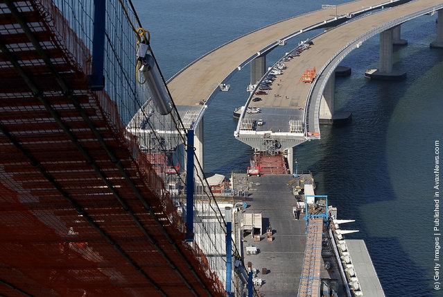 World's Largest Self-Anchored Suspension Bridge