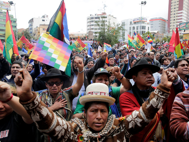 Supporters of Bolivia's President Evo Morales attend a rally in La Paz, Bolivia, February 21, 2017. (Photo by David Mercado/Reuters)