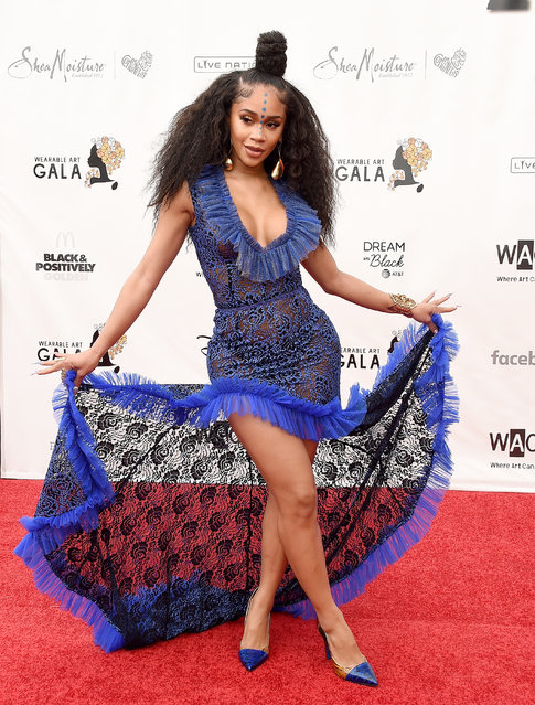 Saweetie arrives at the WACO Theater Center's 3rd Annual Wearable Art Gala at The Barker Hangar at Santa Monica Airport on June 1, 2019 in Santa Monica, California. (Photo by Gregg DeGuire/Getty Images)
