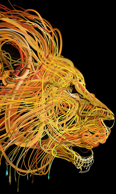 """""""The Conquering Lion: Plug into the power of Reggae (2)"""", detail. (Photo by Charis Tsevis)"""