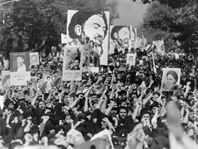 A demonstration in Tehran, 1980
