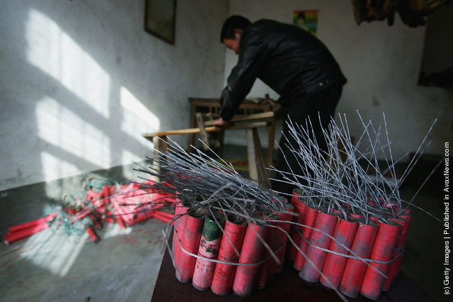 Chinese Handmade Firecrackers For The Lunar New Year