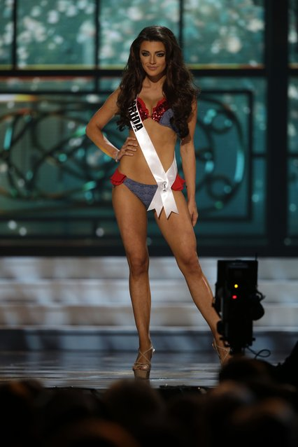 Miss Florida, Ashleigh Lollie, competes in the bathing suit competition during the preliminary round of the 2015 Miss USA Pageant in Baton Rouge, La., Wednesday, July 8, 2015. (Photo by Gerald Herbert/AP Photo)
