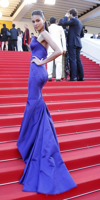 "Model Cindy Bruna poses on the red carpet as she arrives for the screening of the film ""Julieta"" in competition at the 69th Cannes Film Festival in Cannes, France, May 17, 2016. (Photo by Yves Herman/Reuters)"