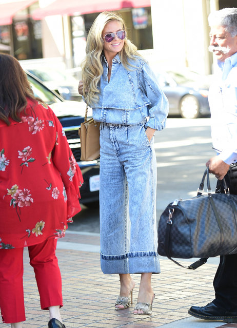 Heidi Klum is seen on October 6, 2019 at Los Angeles. (Photo by Chris Wolf/Star Max/GC Images)