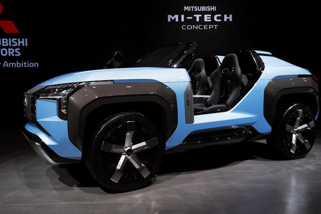 Mitsubishi Motors's Mi-Tech hybrid concept sport utility vehicle (SUV) is displayed during the Tokyo Motor Show, in Tokyo, Japan on October 23, 2019. (Photo by Soe Zeya Tun/Reuters)