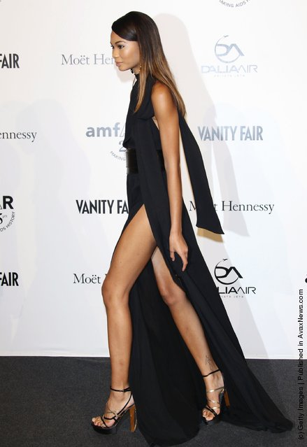 Model Chanel Iman attends amfAR MILANO 2011 at La Permanente