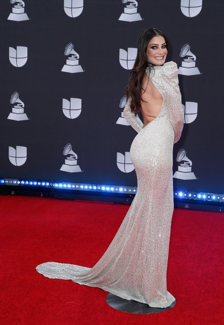 Dayanara Torres attends the 20th annual Latin GRAMMY Awards at MGM Grand Garden Arena on November 14, 2019 in Las Vegas, Nevada. (Photo by Danny Moloshok/Reuters)