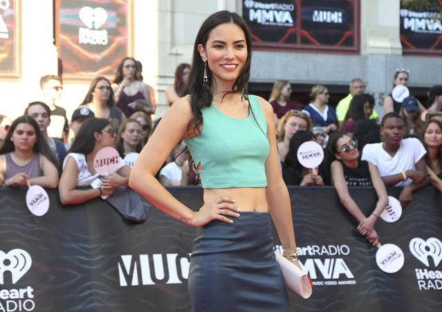 Actress Jessica Matten arrives for the iHeartRadio Much Music Video Awards (MMVAs) in Toronto, Ontario, Canada June 19, 2016. (Photo by Peter Power/Reuters)