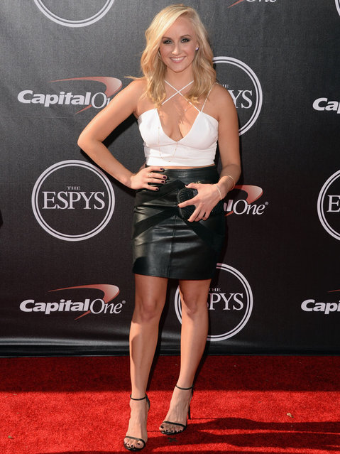 Gymnast Nastia Liukin attends The 2014 ESPYS at Nokia Theatre L.A. Live on July 16, 2014 in Los Angeles, California. (Photo by Jason Merritt/Getty Images)
