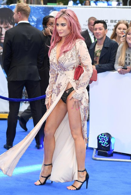 "Carla Howe attends the ""Valerian And The City Of A Thousand Planets"" European Premiere at Cineworld Leicester Square on July 24, 2017 in London, England. (Photo by Karwai Tang/WireImage)"