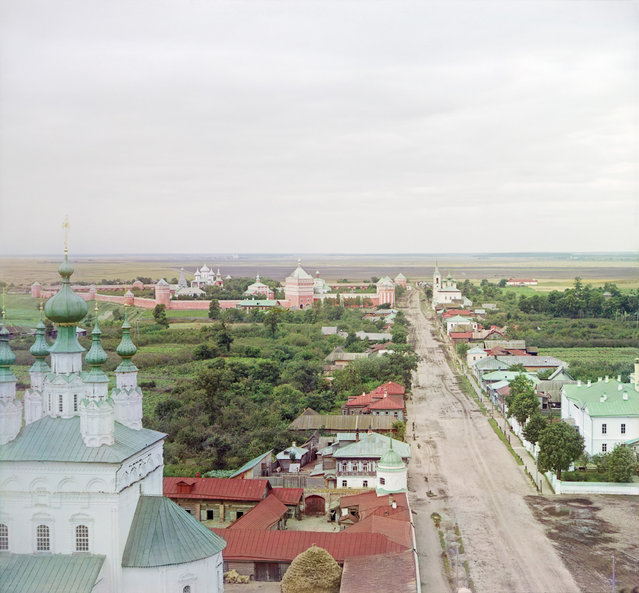Photos by Sergey Prokudin-Gorsky. View of Suzdal from the bell tower of the Rizpolozhenskii. Russia, Vladimir Province, County Suzdal, Suzdal, 1912
