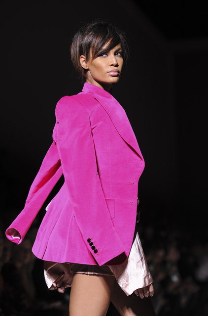 Joan Smalls walks the runway at the Tom Ford Spring 2018 fashion show during New York Fashion Week, Wednesday, September 6, 2017. (Photo by Diane Bondareff/AP Photo)