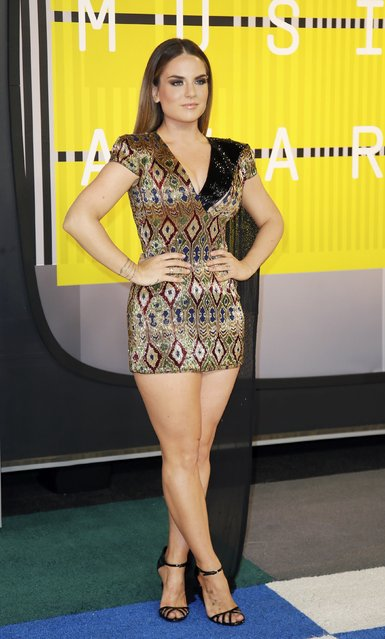 Singer Jojo arrives at the 2015 MTV Video Music Awards in Los Angeles, California, August 30, 2015. (Photo by Danny Moloshok/Reuters)