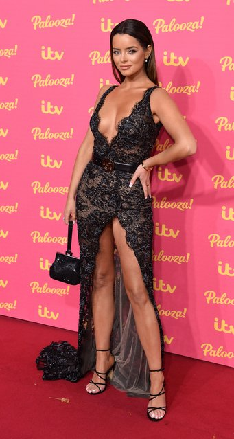 Former UK Love Island star Maura Higgins attends the ITV Palooza 2019 at the Royal Festival Hall on November 12, 2019 in London, England. (Photo by Jeff Spicer/Getty Images)