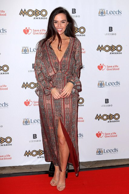 New mum Jennifer Metcalfe attends the MOBO Awards at First Direct Arena Leeds on November 29, 2017 in Leeds, England. (Photo by Anthony Devlin/Getty Images)