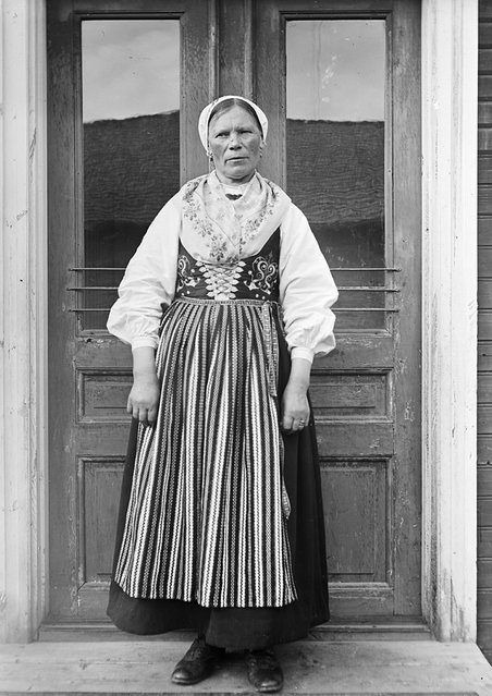 Greta Persson, Almo, Dalarna, Sweden, 1935. Greta Persson, 66 years old, dressed in a traditional costume. Wife of the yeoman farmer Ollas Per Persson in Almo, Dalecarlia. (Photo by Einar Erici)