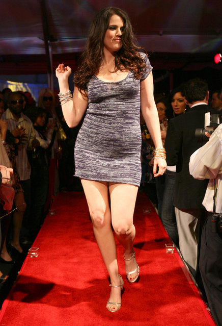 Khloe Kardashian wearing Dash Fall 2007 during Dash Fall 2007 Fashion Show at Luxury Lounge in Los Angeles, California, United States. (Photo by Jesse Grant/WireImage)