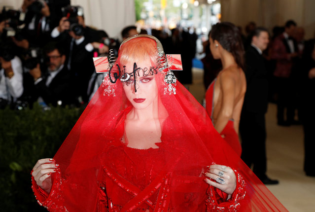 Katy Perry arrives at the Metropolitan Museum of Art Costume Institute Gala in Manhattan, May 1, 2017. (Photo by Lucas Jackson/Reuters)