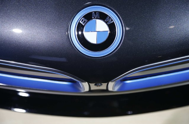 The BMW badge is shown on the BMW X6M during the model's world debut at the Los Angeles Auto Show in Los Angeles, California November 19, 2014. (Photo by Lucy Nicholson/Reuters)