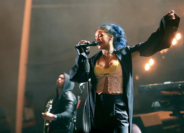 Recording artist Rihanna performs onstage during CBS RADIOs third annual We Can Survive, presented by Chrysler, at the Hollywood Bowl on October 24, 2015 in Hollywood, California. (Photo by Christopher Polk/Getty Images for CBS Radio Inc.)