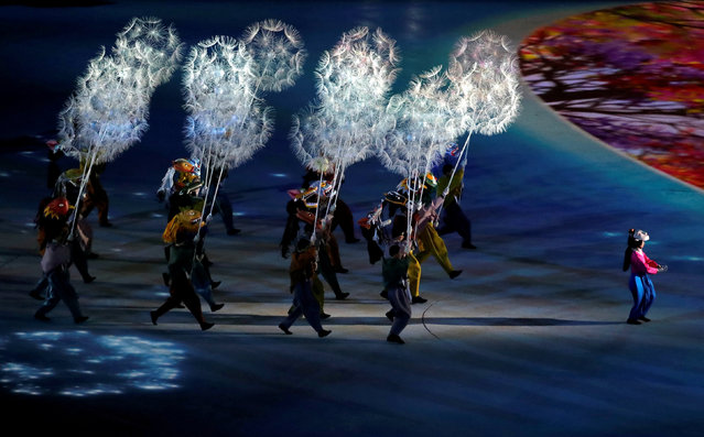 Artists perform during the closing ceremony of the PyeongChang Winter Olympic Games at the Olympic Stadium in Pyeongchang, South Korea, on February 25, 2018. (Photo by Kim Hong-Ji/Reuters)