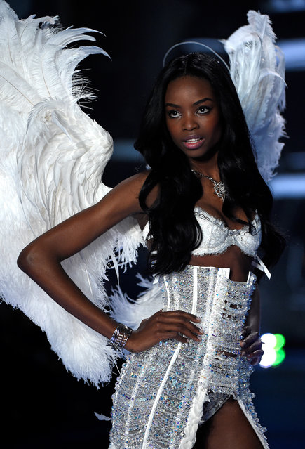 Model Maria Borges walks the runway at the annual Victoria's Secret fashion show at Earls Court on December 2, 2014 in London, England. (Photo by Pascal Le Segretain/Getty Images)