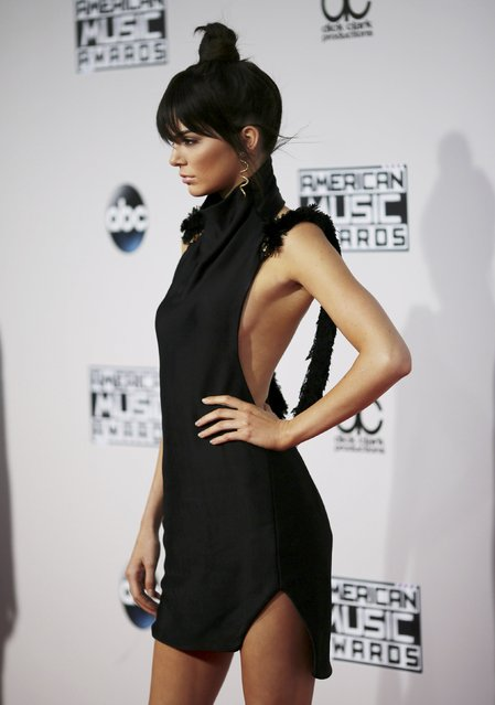 Television personality Kendall Jenner poses as she arrives at the 2015 American Music Awards in Los Angeles, California November 22, 2015. (Photo by David McNew/Reuters)