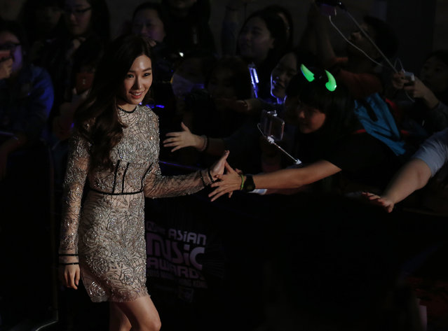 South Korean actress singer Tiffany walks on the red carpet during 2015 Mnet Asian Music Awards (MAMA) in Hong Kong, China December 2, 2015. (Photo by Bobby Yip/Reuters)