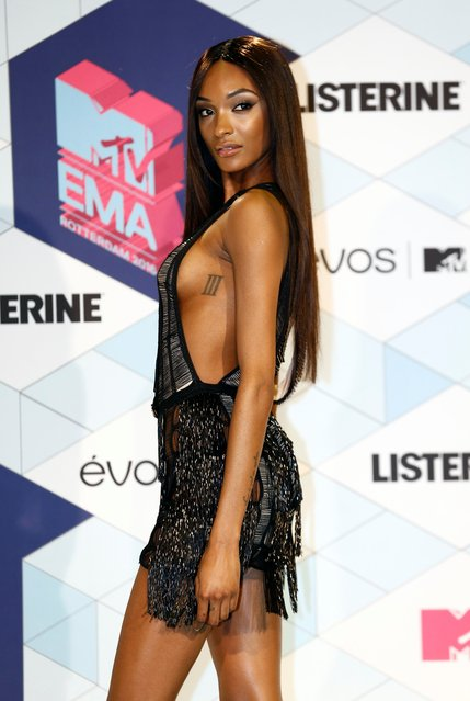 Jourdan Dunn poses for photographers upon arrival at the MTV European Music Awards 2016 in Rotterdam, Netherlands, Sunday, November 6, 2016. (Photo by NIVIERE/SIPA Press/Rex Features/Shutterstock)