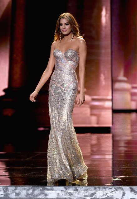Miss Colombia 2015, Ariadna Gutierrez, competes in the evening gown competition during the 2015 Miss Universe Pageant at The Axis at Planet Hollywood Resort & Casino on December 20, 2015 in Las Vegas, Nevada. (Photo by Ethan Miller/Getty Images)