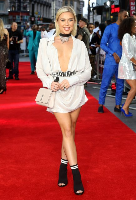 """Gabby Allen attends the World Premiere of """"The Intent 2: The Come Up"""" at Cineworld Leicester Square on September 19, 2018 in London, England. (Photo by Danny Martindale/Rex Features/Shutterstock)"""