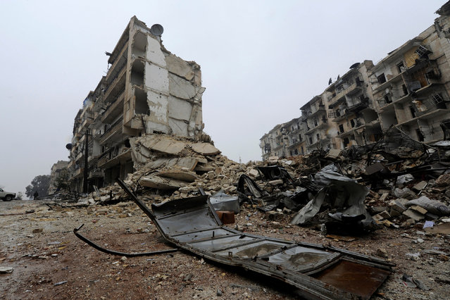 A general view shows the damage in the government-held al-Shaar neighborhood of Aleppo, during a media tour, Syria December 13, 2016. (Photo by Omar Sanadiki/Reuters)