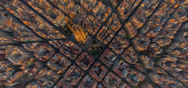 Barcelona Cathedral. (Photo by Airpano/Caters News)