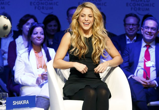 Singer and UNICEF Ambassador Shakira attends the annual meeting of the World Economic Forum (WEF) in Davos, Switzerland, January 17, 2017. (Photo by Ruben Sprich/Reuters)