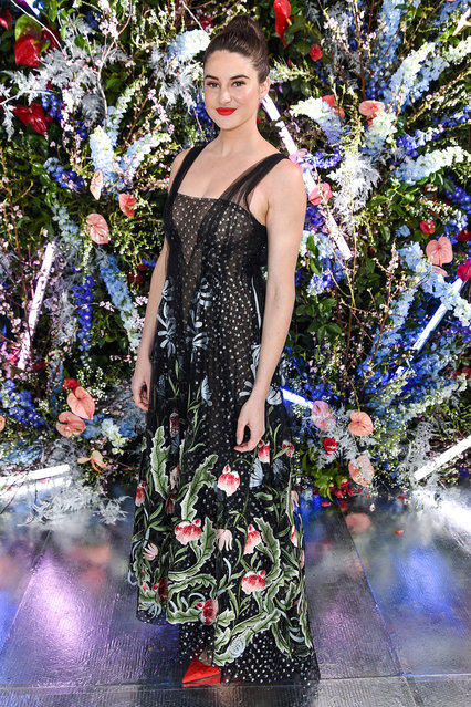 Shailene Woodley attends Rodarte FW19 Fashion Show at The Huntington Library and Gardens on February 05, 2019 in San Marino, California. (Photo by Presley Ann/Patrick McMullan via Getty Images)