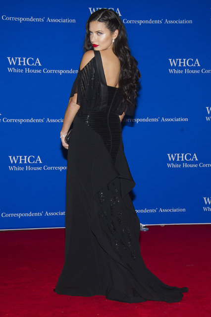 Adriana Lima attends the 2015 White House Correspondents' Association Dinner at the Washington Hilton Hotel on Saturday, April 25, 2015, in Washington. (Photo by Charles Sykes/Invision/AP Photo)