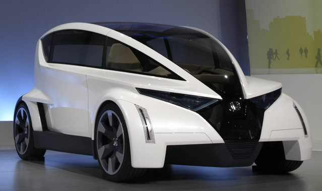 The Honda P-NUT (Personal Neo Urban Transport) concept vehicle is unveiled at the LA Auto Show in Los Angeles, December 2009. (Photo by Lucy Nicholson/Reuters)