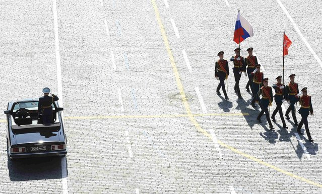 Russian servicemen take part in the Victory Day parade at Red Square in Moscow, Russia, May 9, 2015. (Photo by Reuters/Host Photo Agency/RIA Novosti)