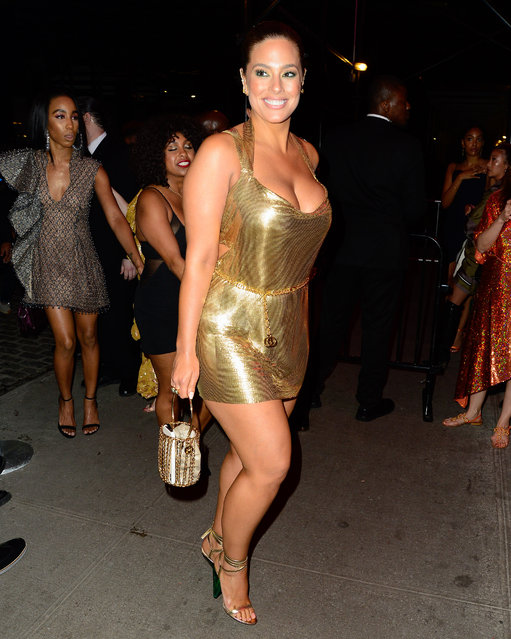 Ashley Graham at the Met Gala Afterparty Standard Hotel on May 7, 2019. (Photo by North Woods/Splash News and Pictures)