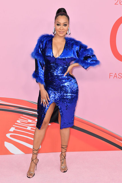 US TV personality La La Anthony arrives for the 2019 CFDA fashion awards at the Brooklyn Museum in New York City on June 3, 2019. (Photo by Angela Weiss/AFP Photo)