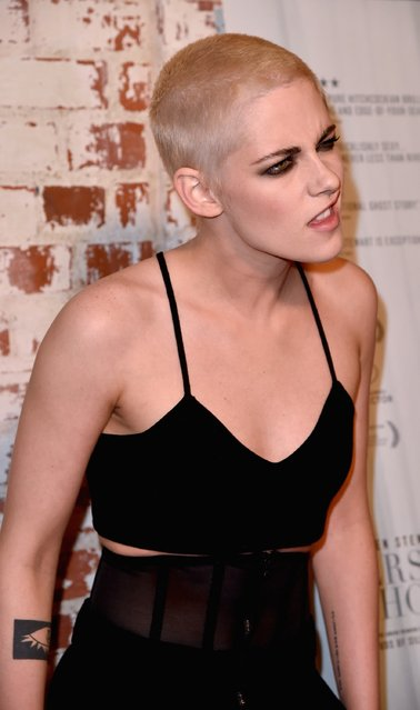 Actress Kristen Stewart arrives at the Flux and Cinefamily Hosted Premiere of IFC Films PERSONAL SHOPPER at The Carondelet House on March 7, 2017 in Los Angeles, California. (Photo by Frazer Harrison/Getty Images)