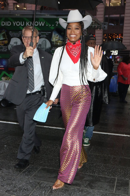 Keke Palmer is seen on October 09, 2019 in New York City. (Photo by MediaPunch/Bauer-Griffin/GC Images)